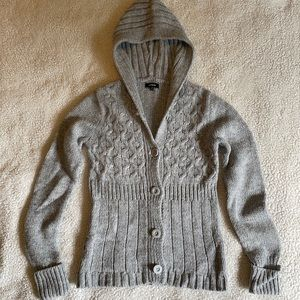 Express button up chunky cardigan. Dry clean only.